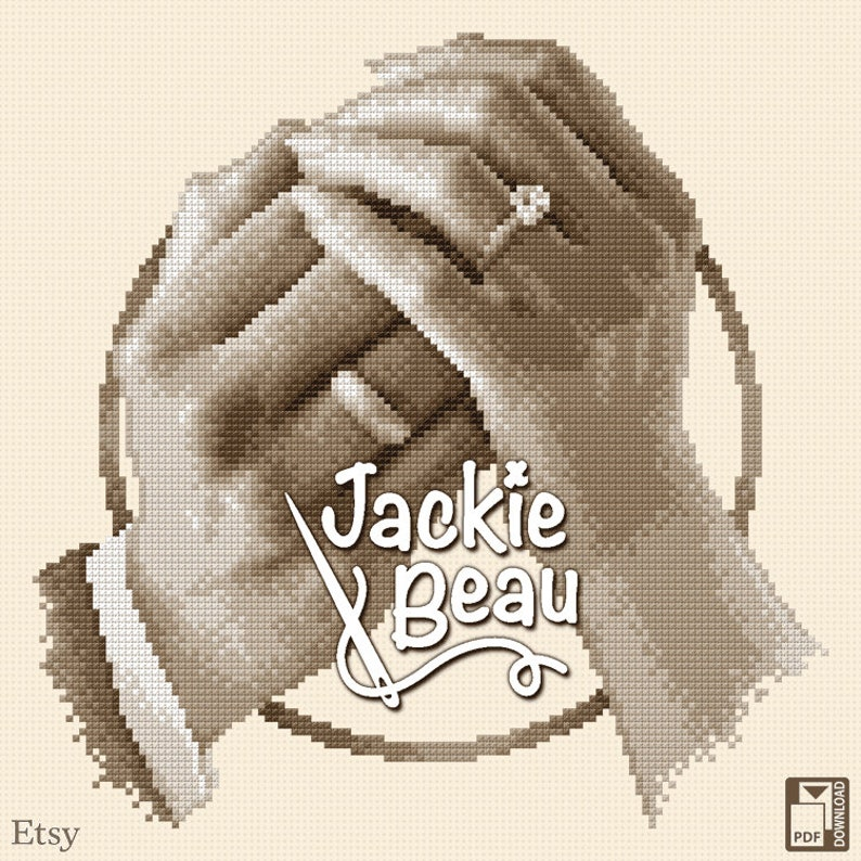 Cross-stitch pattern Connectedness by Jackie Beau image 0