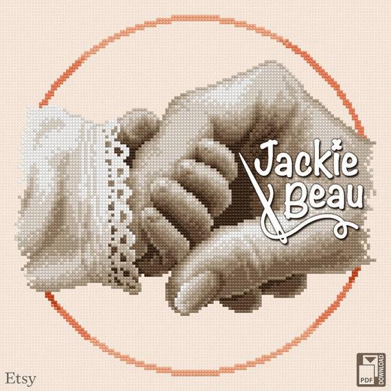 "Cross stitch pattern ""Little hand"" by Jackie Beau - pdf download"