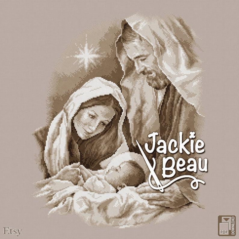 Cross-stitch pattern Christmas story by Jackie image 0