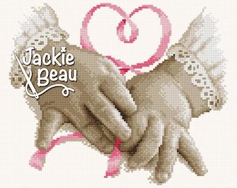Cross-stitch pattern - Small hands - by Jackie Beau - pdf download © Beau2stitch embroidery pattern