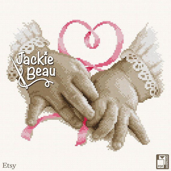 "Cross-stitch pattern ""Small hands"""