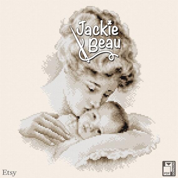 "Cross-stitch pattern ""Mom's kiss"" by Jackie Beau - pdf-download"