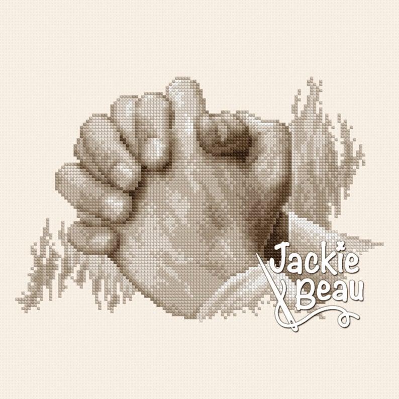 Cross-stitch pattern Praying hands by Jackie Beau image 0
