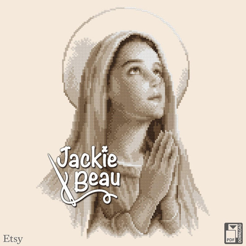 Cross-stitch pattern Virgin Mary by Jackie Beau  image 0