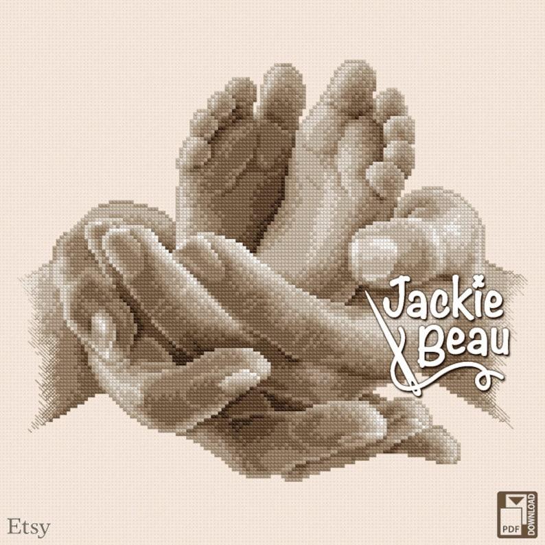 Cross-stitch pattern Two little feet by Jackie image 0