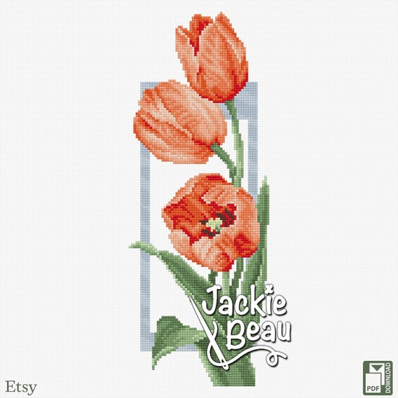 "Cross-stitch pattern ""Tulips"" Jackie Beau"