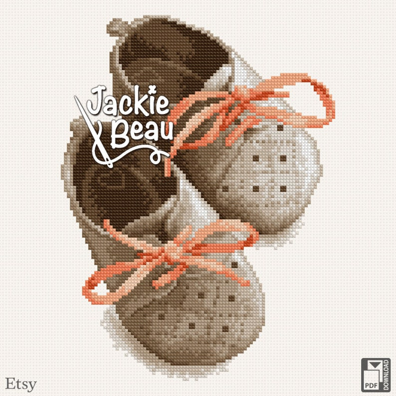 Cross-stitch pattern Little shoes by Jackie Beau  image 0