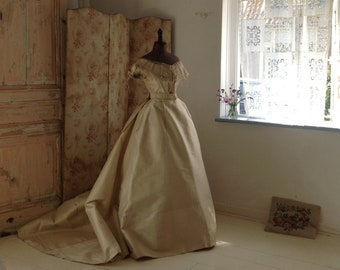 breath taking silk 3PC ballgown, 1860s