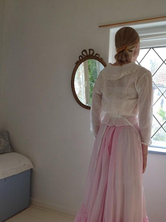 antique cotton lawn blouse, edwardian