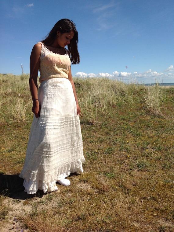 floral skirt , cotton print muslin summer skirt, … - image 7