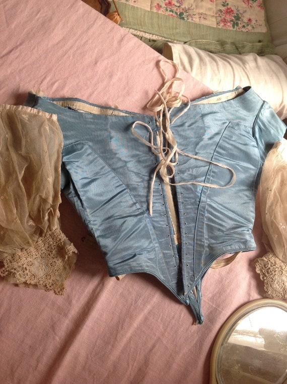 silk ball gown bodice