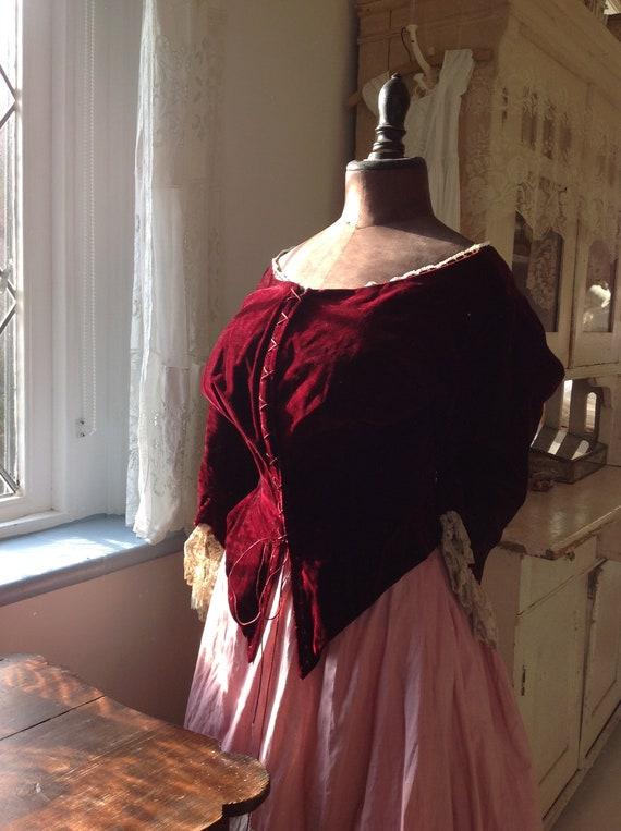 amazing silk velvet bodice victorian