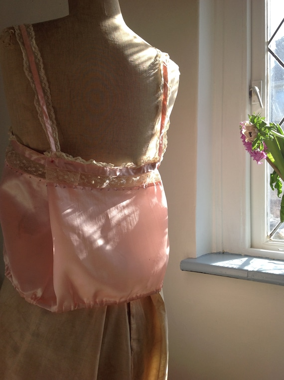 choral pink camisole silk and lace edwardian 1920… - image 2