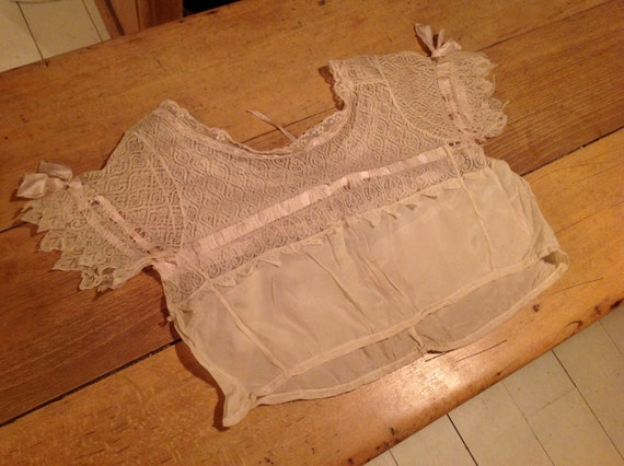 beautiful antique edwardian silk and lace camisol… - image 8