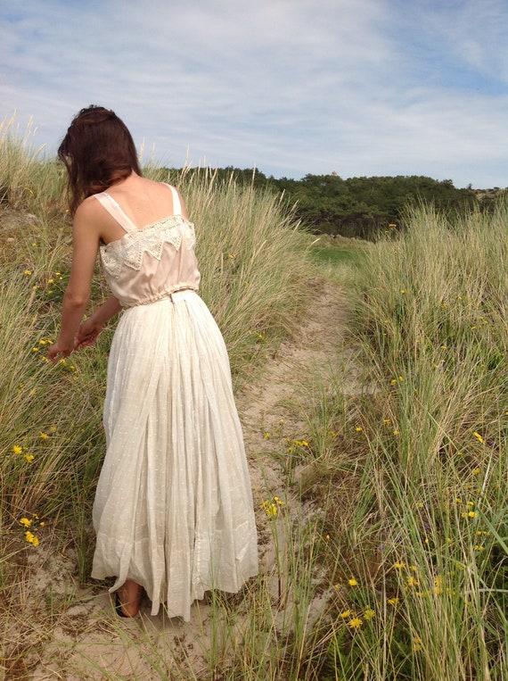 nude ,silk and lace camisole, edwardian - image 4