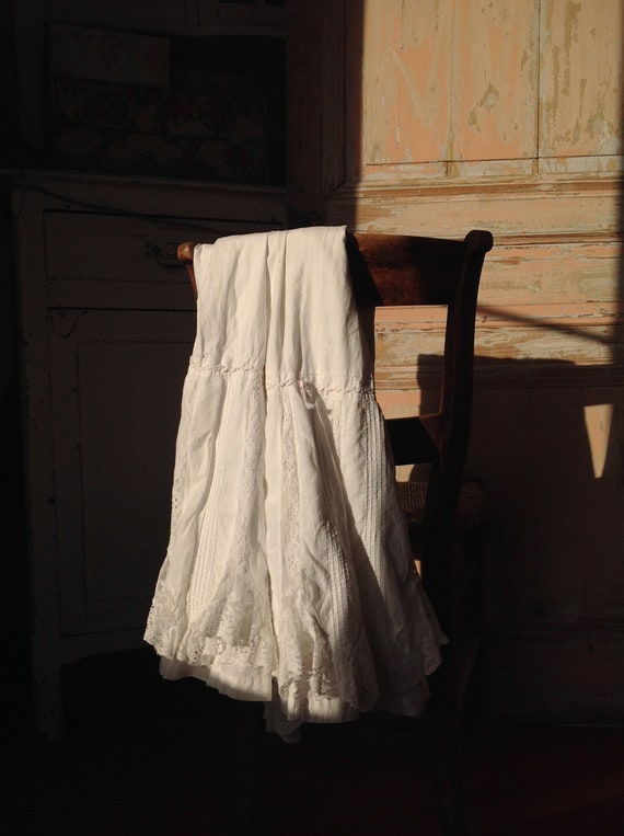 antique petticoat skirt LARGE