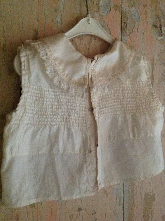 antique Victorian little boy's silk blouse 1880s - image 4