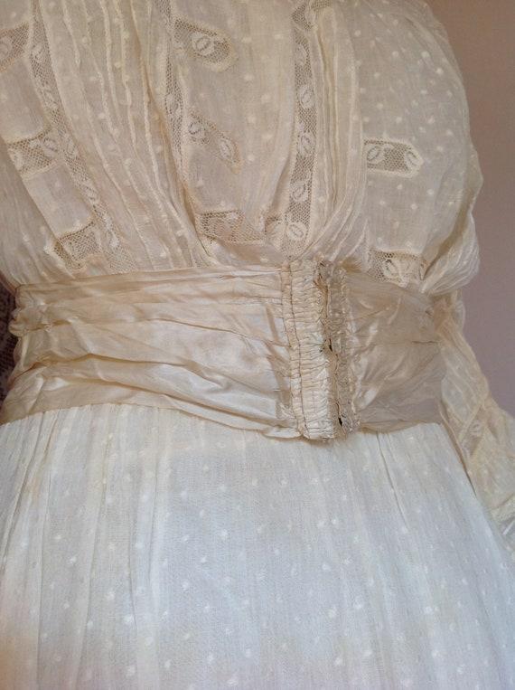 amazing antique victorian wedding dress 1890s 4PC - image 5