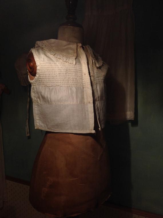 antique Victorian little boy's silk blouse 1880s - image 7