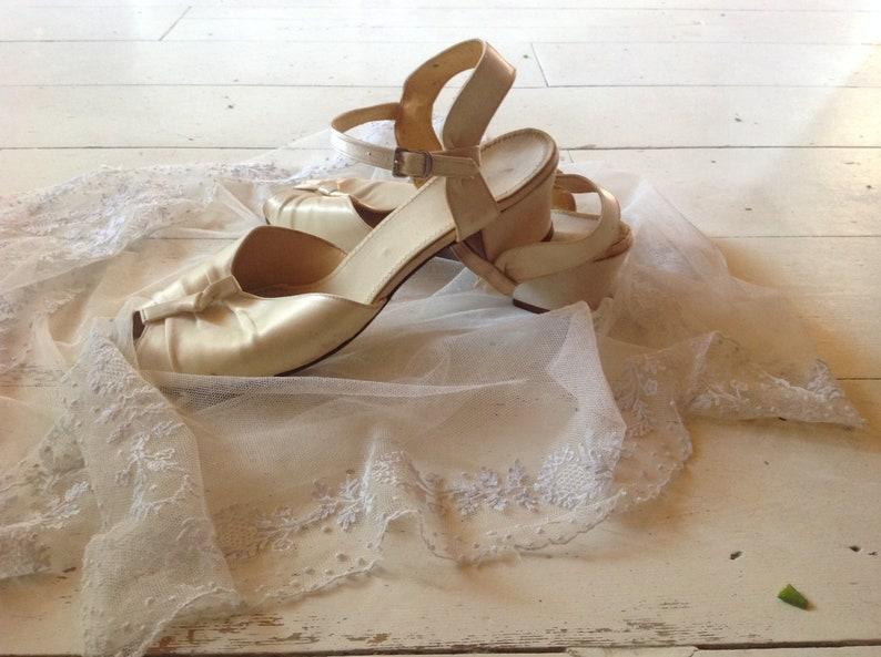 Antique Silk Wedding Shoes 1900s Etsy