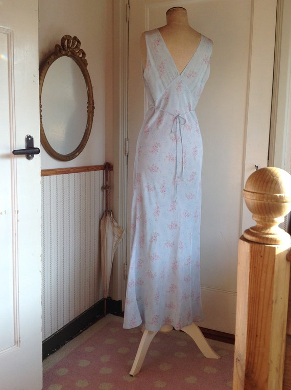 antique floral slip dress 1920s - image 3