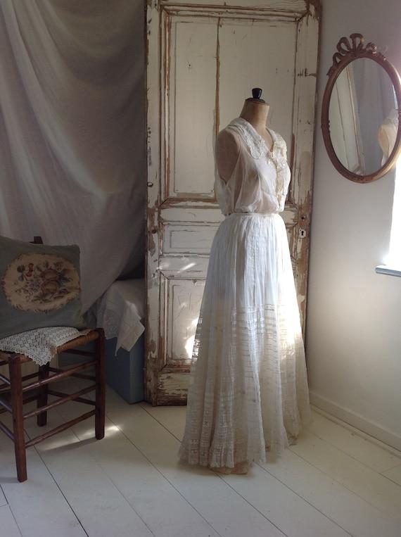 floral skirt , cotton print muslin summer skirt, … - image 3