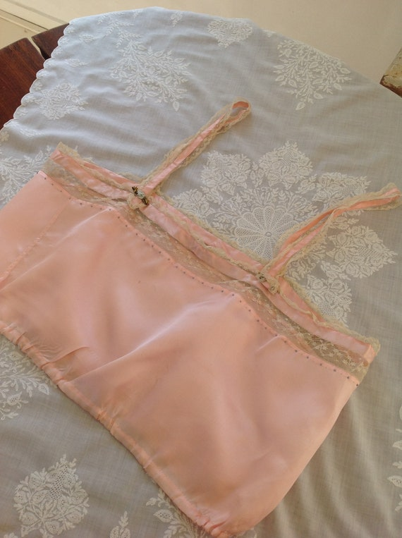 choral pink camisole silk and lace edwardian 1920… - image 5