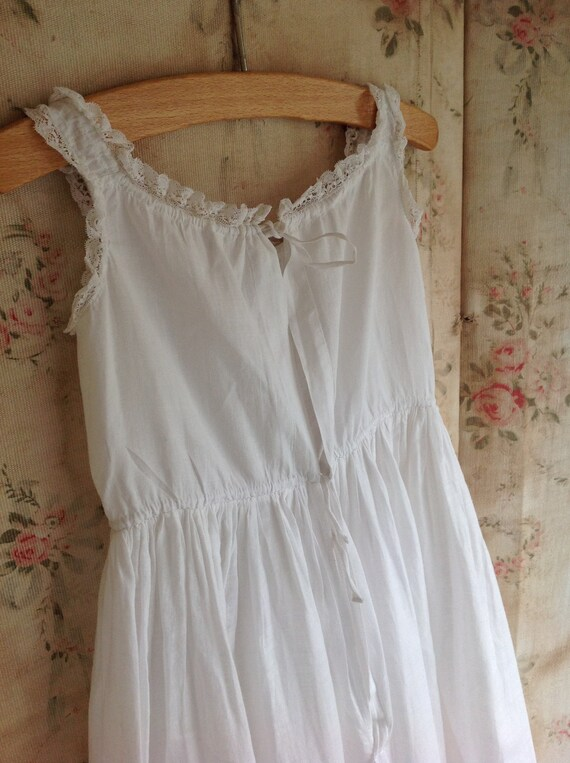 antique cotton and lace baby dress, baptism dress