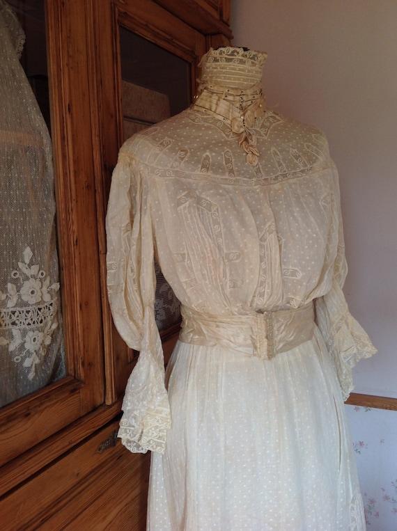 amazing antique victorian wedding dress 1890s 4PC - image 8