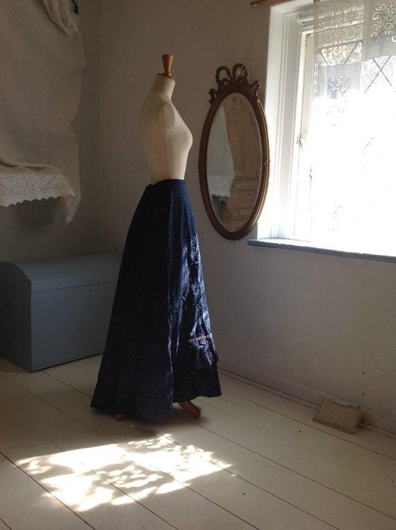 calico prairie skirt, victorian edwardian reproduc