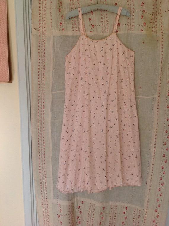 vintage floral slip dress, underdress night gown … - image 3
