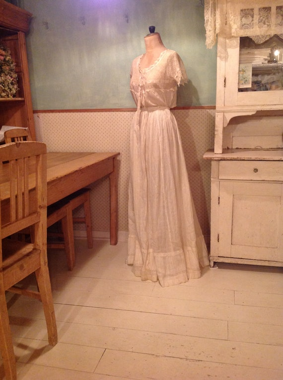 beautiful antique edwardian silk and lace camisol… - image 7