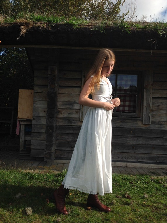 antique dress , nightgown