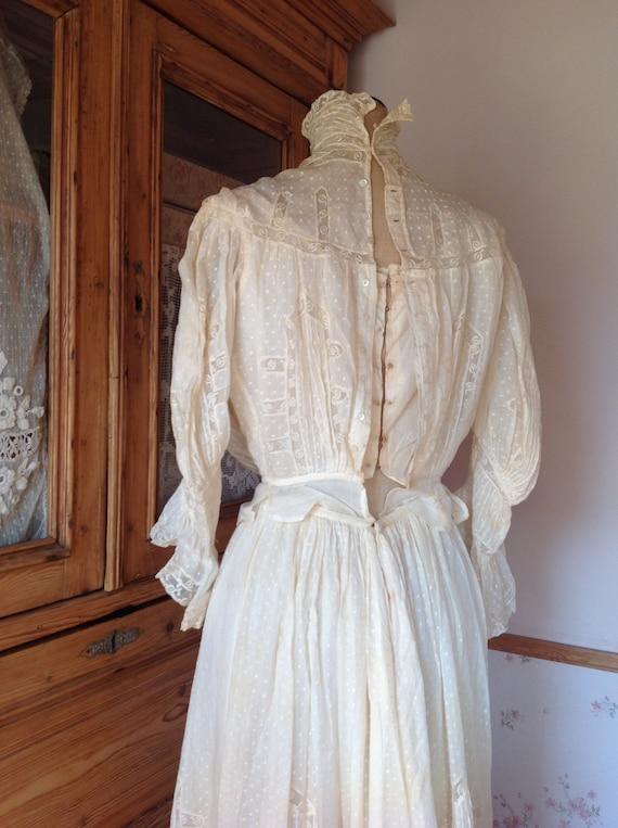 amazing antique victorian wedding dress 1890s 4PC - image 10