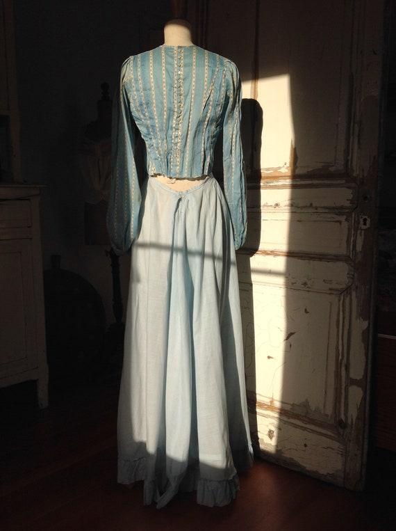 light blue summer skirt, edwardian, victorian