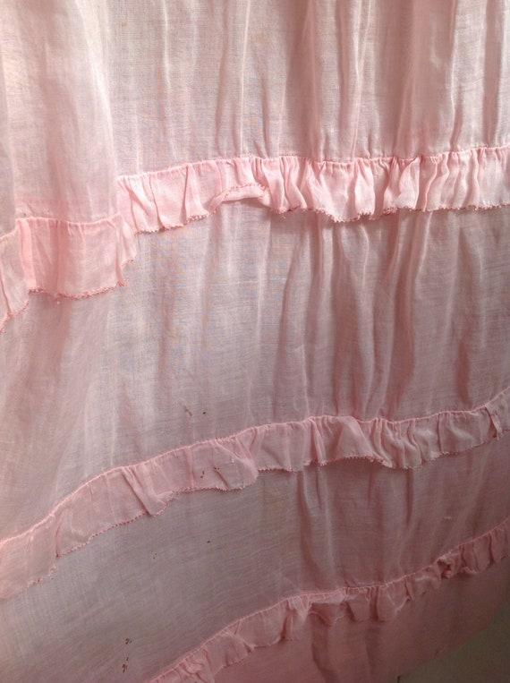 pink dress, edwardian , muslin cotton day dress 1… - image 6