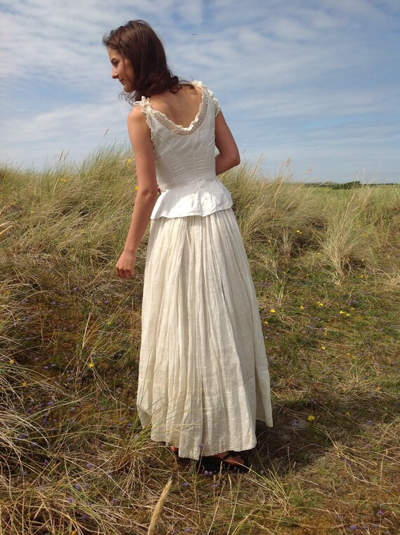 antique lingerie, queens corset cover, camisole 19