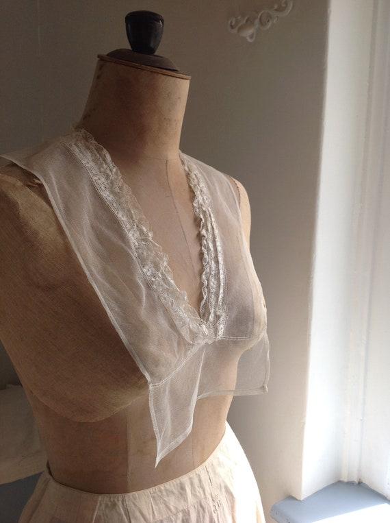 edwardian tulle lace dicky, fake blouse