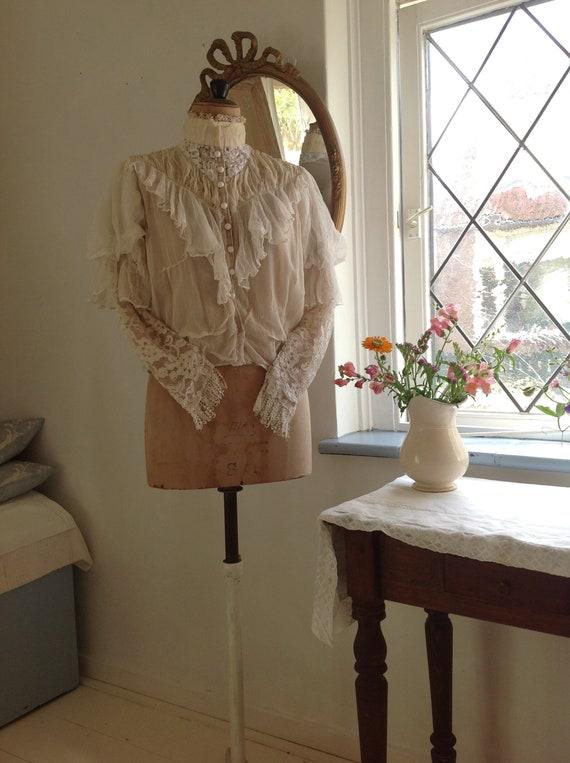 vintage opera bodice , silk, tulle and lace bodice