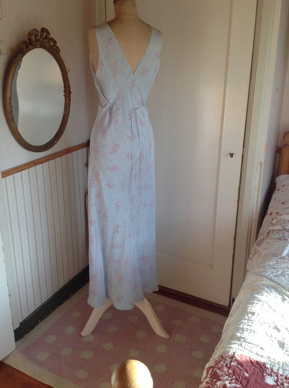 antique floral slip dress 1920s - image 8