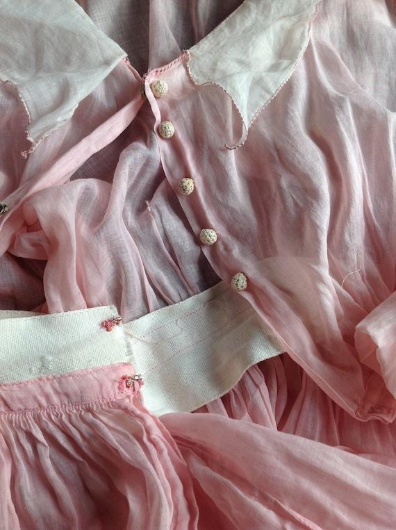 pink dress, edwardian , muslin cotton day dress 1… - image 3
