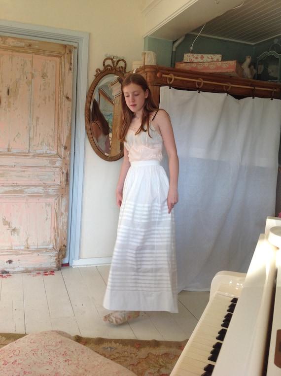 fine linen antique petticoat skirt