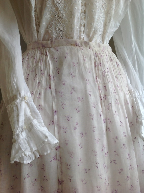 sheer cotton summer skirt victorian edwardian cali
