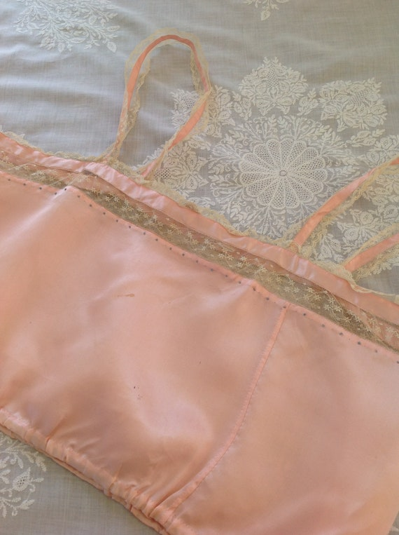 choral pink camisole silk and lace edwardian 1920… - image 4