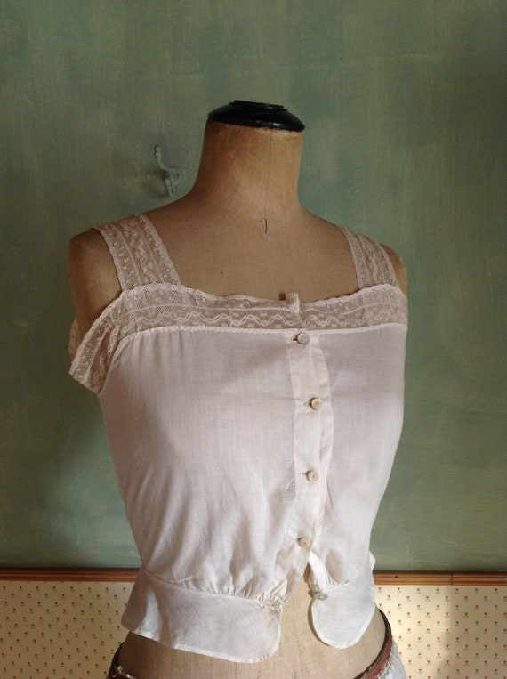 antique victorian edwardian corset cover camisole