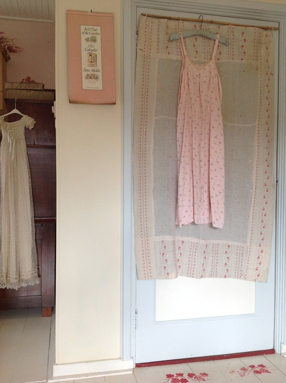 vintage floral slip dress, underdress night gown … - image 6