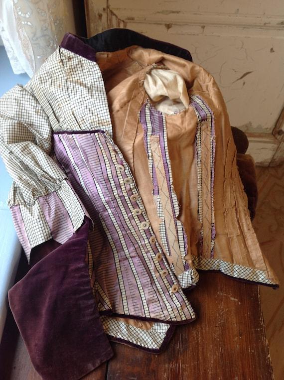 antique silk and cotton bodice,  victorian