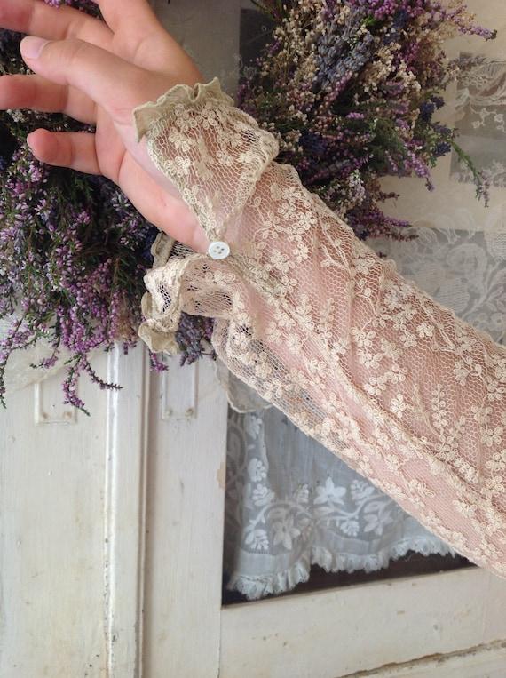 vintage floral tambour lace blouse, vest cardigan