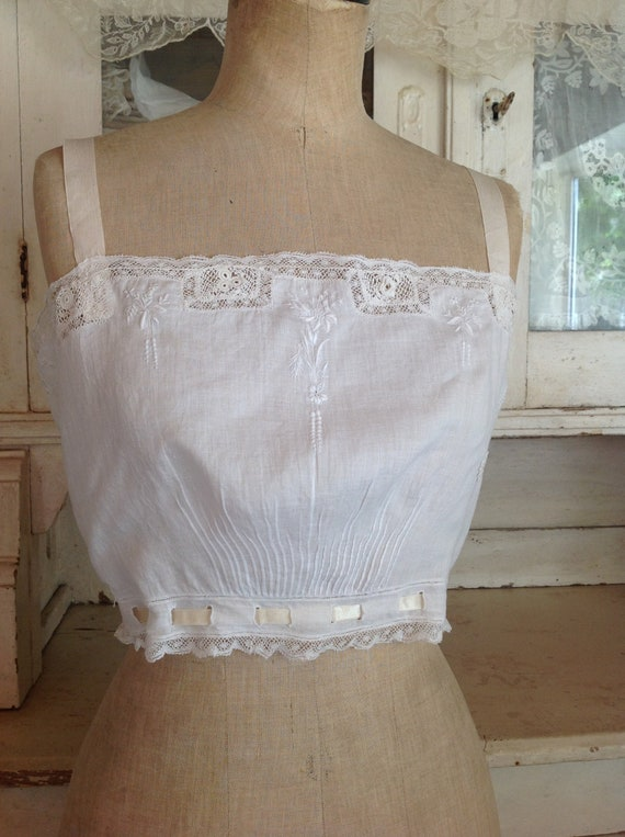antique victorian edwardian camisole, summer top 1