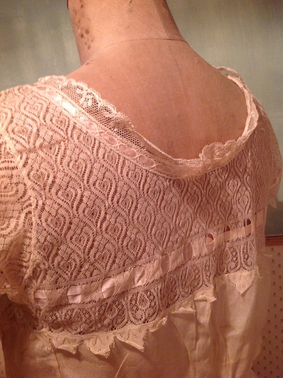 beautiful antique edwardian silk and lace camisol… - image 5